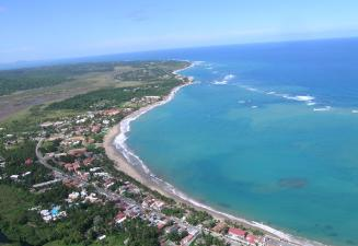 Cabarete bay view from air