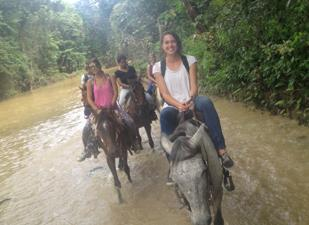 Horseback riding around Cabarete